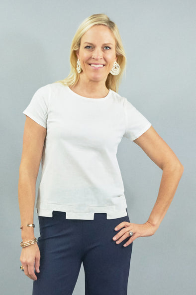 Tallulah Top - White Linen