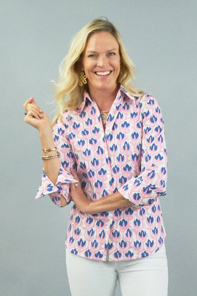Tenley Shirt - Tulip Pink and Blue