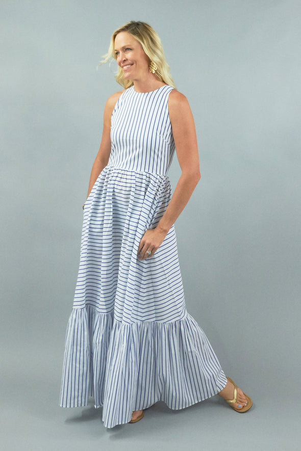 Trocadero Maxi - Wide Blue Stripe