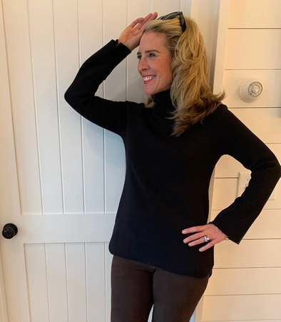 The Lauren Tunic Sweater in Collaboration with Burgess Sweaters