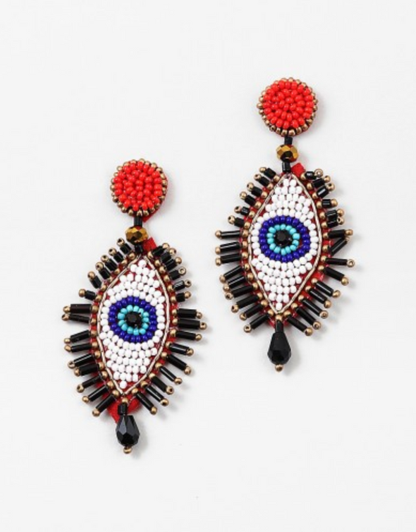 Beaded Evil Eye Earring
