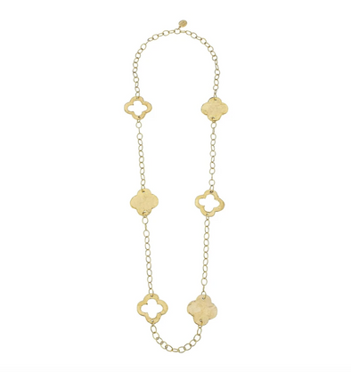 Susan Shaw Clover Chain Necklace