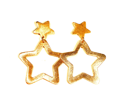Sugar - Star Stud with Open Star Drop - Large