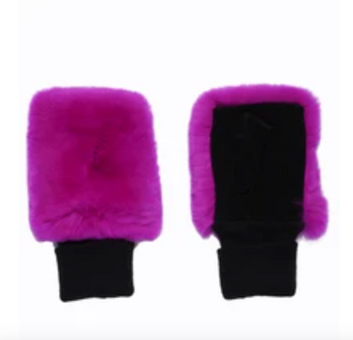 Glamourpuss NYC Fingerless Fur Mittens