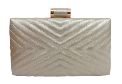 Quilted Trapunto Box Clutch