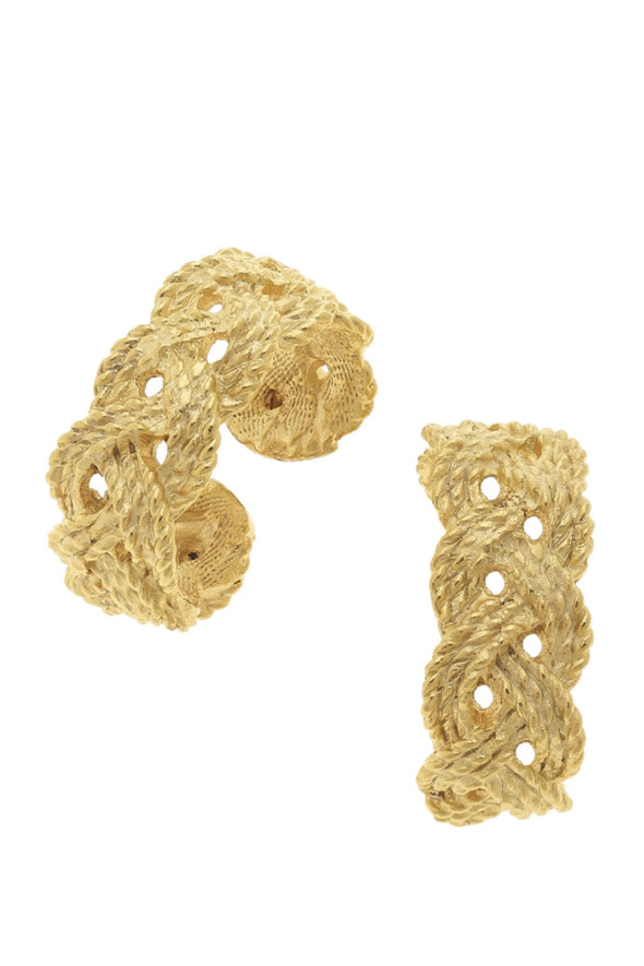 Susan Shaw Braided Hoop Earrings