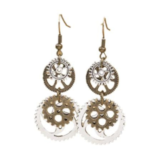 4 Gear Dangle Earrings