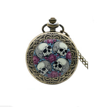 Skull and Roses Pocket Watch