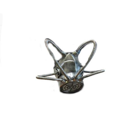 4 Tube Gas Mask Pewter