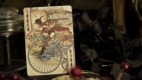 Steampunk Pennyfarthing Playing Cards