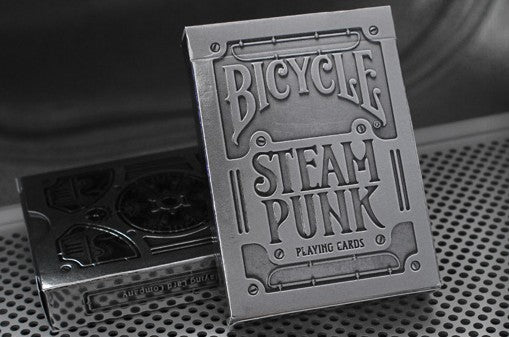 Steampunk Silver Playing Cards
