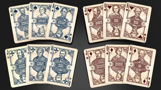 Civil War Generals Playing Cards