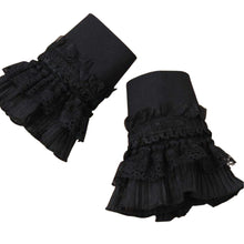 Black Lace Wrist Cuff-Pair
