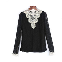 Black and Ivory Lace Blouse