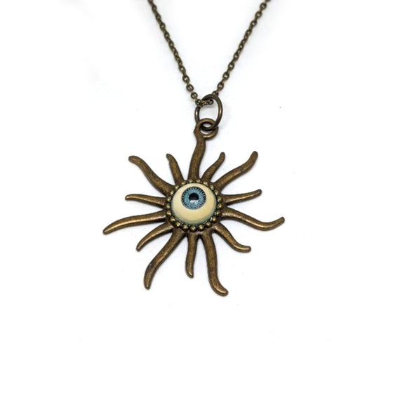 Blue Eye Starburst Necklace