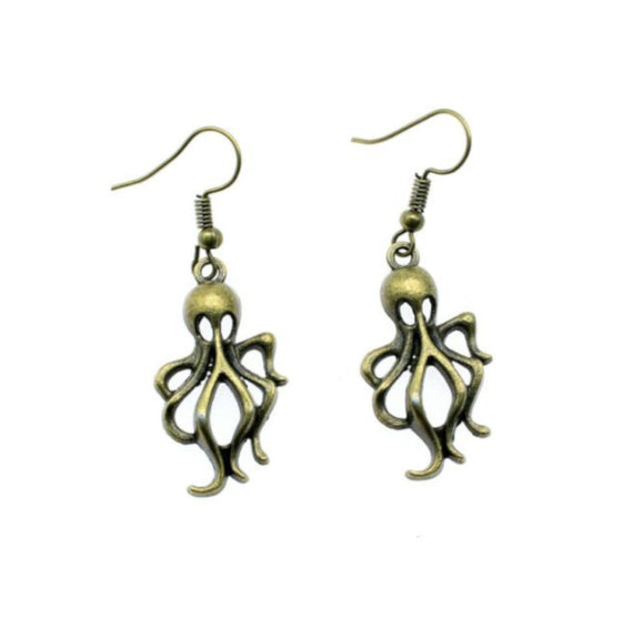 Brass Octopus Dangles