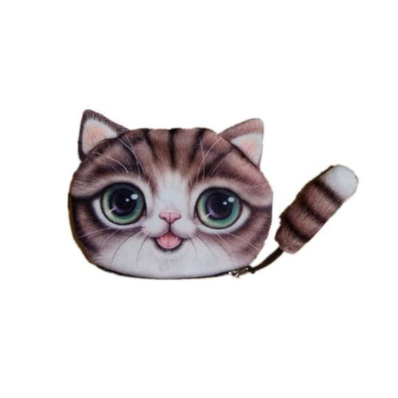 Cat Purse with Tail Brown