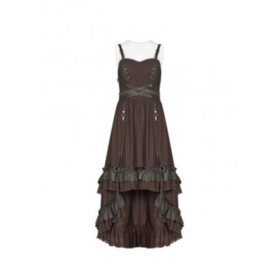 Brown Layered Dress