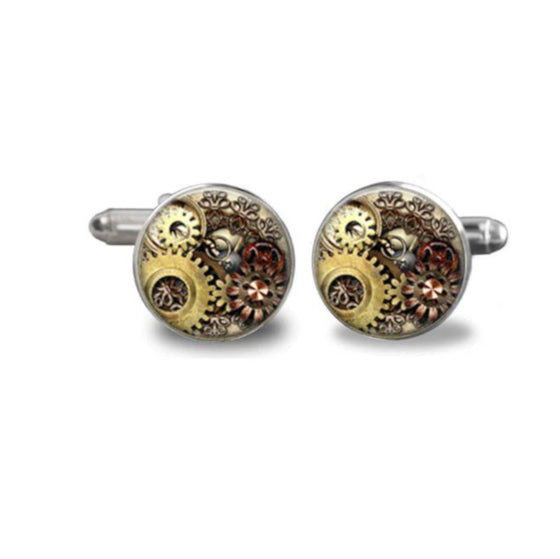 Gear Bubble Cufflinks