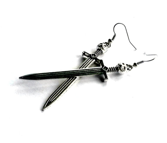 Cat Sword Earrings