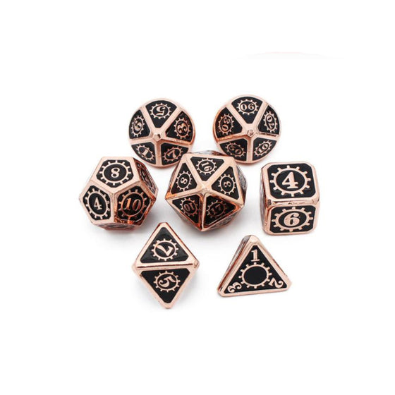 Copper Steampunk Dice