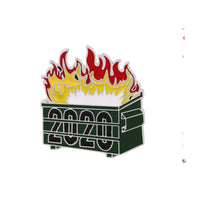 2020 Dumpster Fire Tack Pin