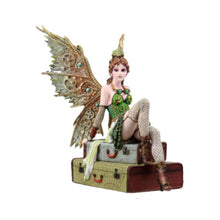 Steampunk Fairy on Suitcases