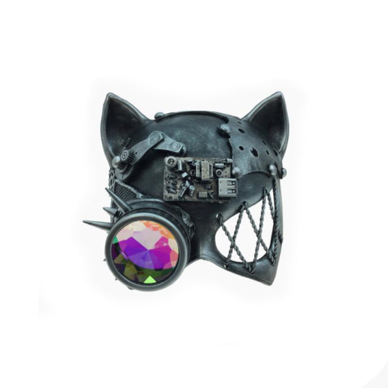 Kaleidoscope Cat Mask- Pewter