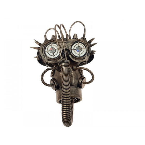Lighted Gas Mask with Goggles Copper