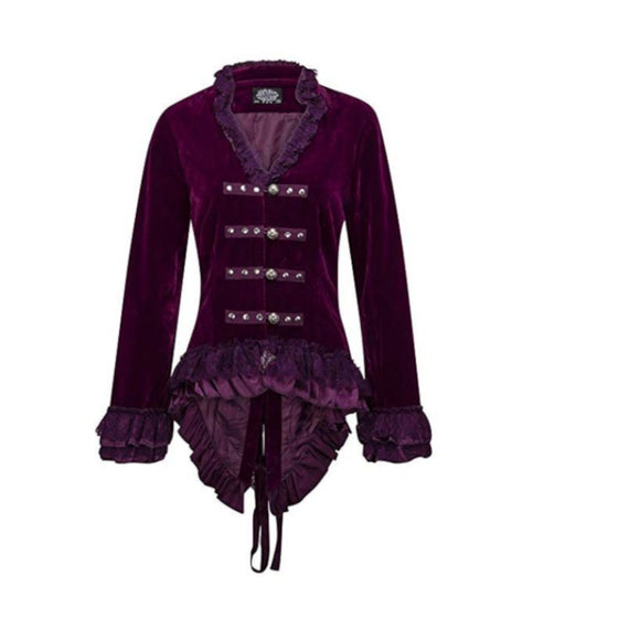 Lizette Purple Velvet Jacket