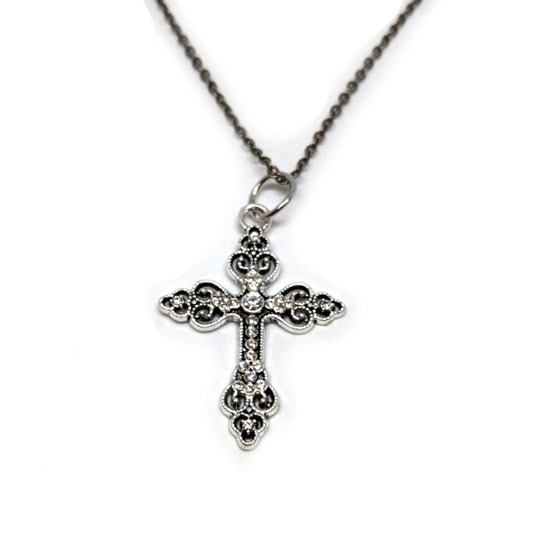 Marcasite Cross Necklace