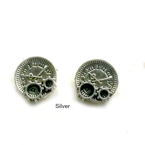 Mini clocks and Gear Studs silver
