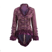 Monique Purple Brocade Jacket