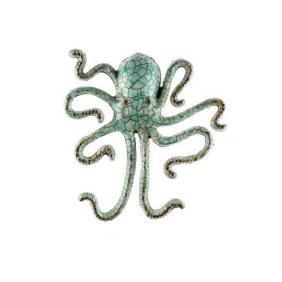 Iron Octopus Wall Hanging Crackle