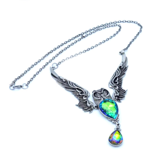 Vitreous Glass Owl Necklace