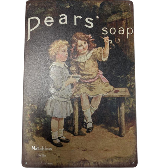 Metal Sign Pears Soap