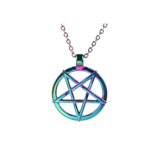 Rainbow Pentagram Necklace