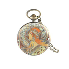 Red Head Pocket Watch