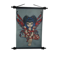 Red Ribbon Fairy Wall Scroll