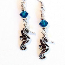 Seahorse turquoise crystal Earrings