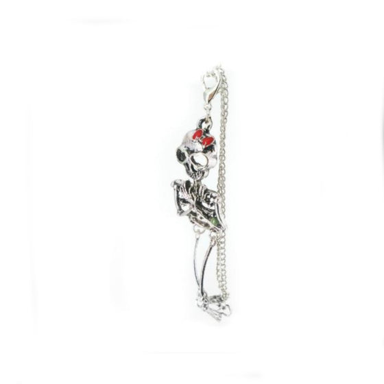 Skeleton Red Bow Bracelet