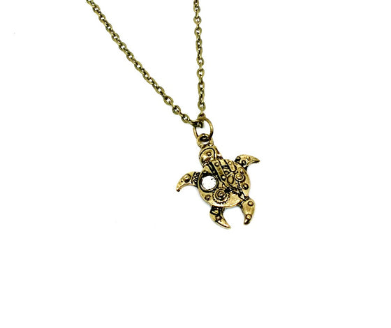 Steampunk Turtle Necklace
