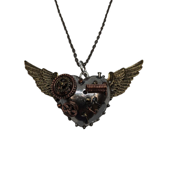 Heart Wings, Spring Necklace