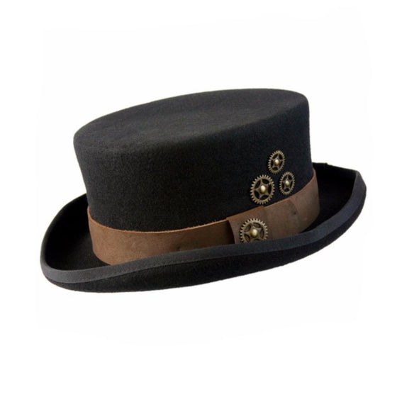 Time Travel Steampunk Hat Black