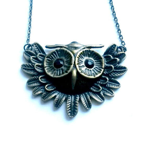 Black eyed Owl Necklace