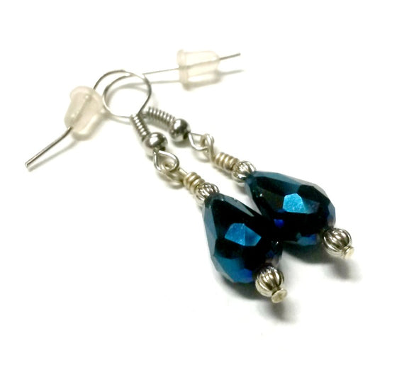 Blue Vitreal Glass Earrings