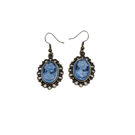 Cameo Dangles - Blue