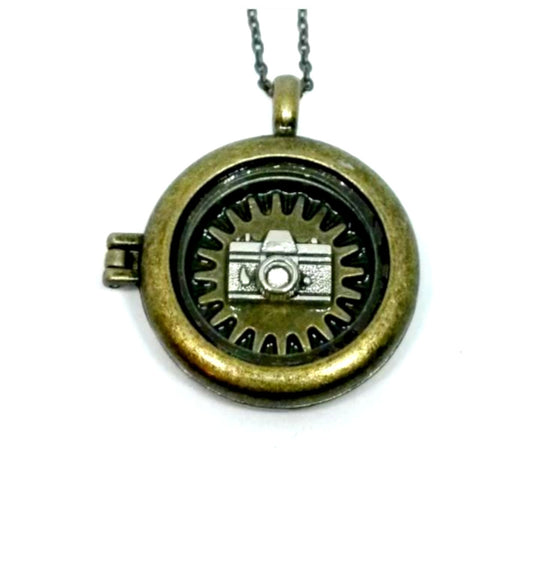 Camera Locket Necklace