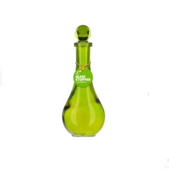 Glass Bottle with Stopper Tall