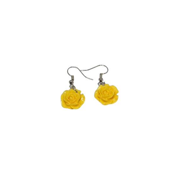 Flower Pot Earrings Yellow